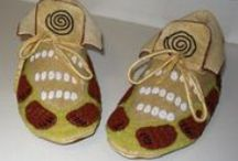 BOOT & MOCCASINS  BEADING & LEATHER / by pauline johnson
