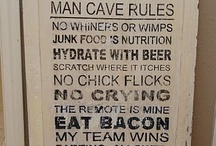 He Gets One... / Tom's Man Cave / by Misti Chamberlain