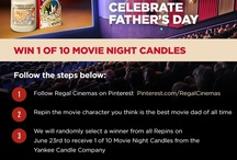 Regal Cinemas and Yankee Candle Celebrate Father's Day / Repin the character you think is the best movie dad of all time for a chance to win a Movie Night Candle from the Yankee Candle Company!  / by Regal Cinemas