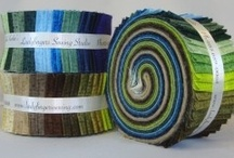 "2.5"" Strip Rolls with Andover Fabrics! / (also referred to as Jelly Rolls) 2.5"" x 44"" strips -- 40 strips in each roll  / by Ladyfingers Sewing Studio"