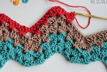How to crochet 'Ripple' / How to crochet ripple pattern through diagrams, tutorials and video / by Marthelene