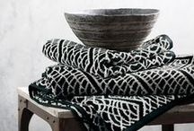 Black & White Deco / Interior design in black & white  - Ethnic bohemian style / by Fan TingTing