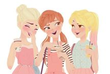 Frozen and tangled / I CAN POST OTHER PRINCESSES TOO / by Fenny & Fern