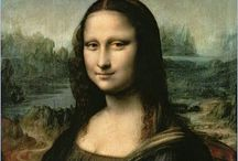 Mona Lisa / Parodies of Mona Lisa inspired by the real thing painted by Italian artist Leonardo da Vinci between 1503-1506. / by Emily Edwards