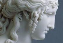 Escultura, sculpture / Todo tipo de esculturas que me gustan incluyendo modelados en arcilla y otros materiales, tallado en madera y piedra,  bustos, relieves, mascaras, cascos, armaduras, jarrones, joyas, arte antiguo y moderno, modelado por ordenador, 3D,  etc... / by Hongo Molongo
