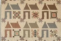 QUILTS HOUSE / des quilts maisons , j'adore les maisons .... / by brigitte martin