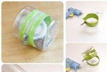 Plásticos, PVC, Borracha artesanatos bem bolados com embalagens plásticas. / by Adriana Santos