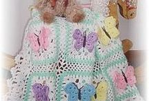 Crocheted Baby Afghans / Buttery Fly Kisses, Dragonfly dreams, patterns by creeksendinc or Sharon Santorum / by Sharon Santorum