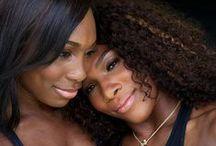WILLIAMS SISTERS - VENUS & SERENA / Gorgeous, Beautiful, Talented young ladies / by Dee McLeod