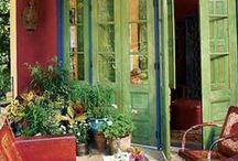 porches, patios, indoor/outdoor spaces / by Peggy Teusch