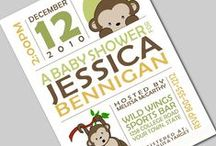 Invites to Baby Showers / by GagaGallery Wheeler3Designs