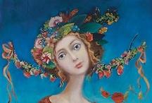 Arte - PAINTINGS *1* / Ci sono pittori che dipingono il sole come una macchia gialla, ma ce ne sono altri che, grazie alla loro arte e intelligenza, trasformano una macchia gialla nel sole. Pablo Picasso   / by Mirella M.