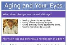 Vision and Aging / Some changes to your vision are normal as you age, but vision loss and blindness are NOT a normal part of aging.  Learn more about taking care of your eyes as you age. / by National Eye Institute, NIH