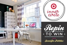 Target Pin-To-Win Office Makeover / Join me as I pin items from my Target Inner Circle Office Makeover with HGTV star and Target Home Style Expert, Sabrina Soto. Each item with 50 repins will be unlocked and one lucky repinner will win that item. Contest is open between Jan 29th and Feb 12th, 2013. Open to US residents only. Find more details, including images from the makeover at www.blog.studiopebbles.com / by Jennifer Pebbles