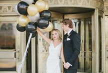 Theme: Art Deco Wedding (Black & Gold) / A truly elegant and opulent theme for the couple that is inspired by the past.  These art deco wedding ideas feature a glistening gold and black color scheme.  #artdeco #wedding / by Wedding Favors Unlimited