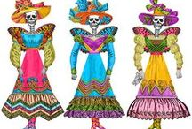 Holidays Dias de los muertos activities, lessons, pictures resources / by Mary Heisler