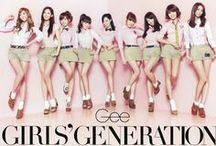 SNSD / Girls Generation: Taeyeon, Tiffany, SeoHyun, Hyoyeon, Sooyoung, Sunny, Jessica, Yuri & Yoona / by Suzyneta Izziyani