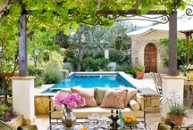 Interior Design-Backyard/Patio / Being An Interior Design Student, I Love Pinning My Ideas, Or Things That Could Inspire My Ideas. This Board Consists Of Outdoor Pools, Outdoor Kitchens, Fire Pits, Patio Ideas, & Exterior Furniture! Enjoy! (: / by Lizzy French