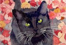 the black cat loves etsy / Group board for all things black cat related on Etsy! Pin your own or pieces that you love :) / by Onyx Cat Designs