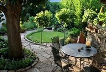 Small Space Gardens/Courtyards/Lawns / Landscape design & tips for small outdoor spaces. / by Ann Hawf