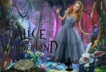 """Tim Burton's Alice in Wonderland / """"The little girl had gone to sleep because her thoughts were much too deep.  Her mind had gone out for a stroll and fallen down a rabbit hole...""""  Alice in Wonderland / by Nicole"""