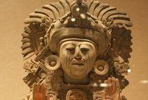 MEXICO PREHISPANICO (olmecas,zapotecos,etc.etc.) / Aqui quise compactar otros grupos etnicos, maravillosos artesanos. Hay tableros individuales de Mexicas,Mayas, Toltecas y Teotihuacan. Es tal el legado artistico de los antiguos mexicanos que es un  placer para mi formar estos tableros.  / by Maria Dolores Fernandez