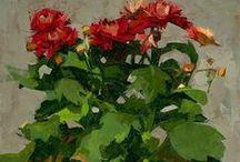 FLOWERS IN PAINT / by Jackie McIntyre