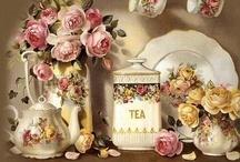 Theepotten-Kop en Schotels Theetijd -Teapot-Cup Teatime / by Mieke lobker