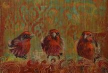 COLD WAX and OIL / Paintings done with oil and cold wax / by Jackie McIntyre