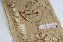 fabric & stitching / by Linda Reese
