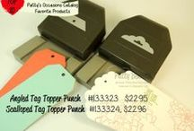 SU Tag Topper Punches (Angled & Scalloped) / by scrappin' gisi