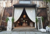 Rustic Country Barn Wedding / This is a collection of ideas for my daughter's wedding.  Now that her wedding is over, I have a certain niece in mind... / by Paula Melton