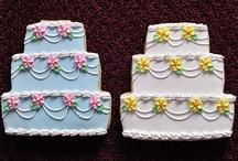 Cookies...Wedding / Cookies with monograms, floral, or wedding motif / by Sue Evans