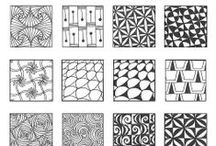 Tangle Patterns n' (Zen-)doodles / Tangle Patterns, Zentangle + Zendoodle, Templates, Hangers, Borders, paisley,.. / by a.liZ.a