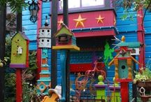 Living on the bright side (or on a whim) / whimsical homes & furniture & furnishings &  yard art... / by Andra W.