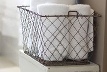Decor: BATHROOMS with rustic perfection / by Donna - Funky Junk Interiors