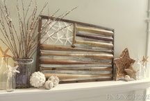 Decor: FIREPLACES and mantels / Unique fireplaces and mantel decor, with a rustic touch of course. :) / by Donna - Funky Junk Interiors