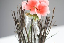 Decor: FLOWERS / beautiful and unique ways to display flowers / by Donna - Funky Junk Interiors