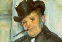 Artist: Cezanne / Works of Paul Cezanne. Comments are from prior pinner, not me. / by Laurie Mullikin