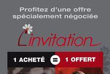 SYMBOL - L'INVITATION / Avec la carte « L'INVITATION » vous achetez pour 2 et vous ne payez que pour 1 !  « L'INVITATION » vous permet d'économiser 50% pendant 12 mois, autant de fois que vous le souhaitez dans tous les établissements référencés. Déjà plus de 1 500 offres sont disponibles en France et DOM-TOM : Hôtels, restaurant, loisirs et soins. / by Symbol Agence