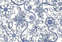 pattern_flowers_C / by blueann21