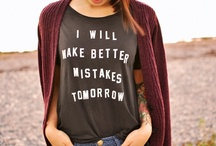 Not-So-Basic Tees / All tshirts, all the time. Cool prints, witty phrases, etc. / by Greet The Sun