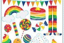 Mygrafico Rainbow themed birthday party ideas / by Mygrafico Digitals