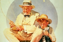 NORMAN ROCKWELL / Norman Percevel Rockwell (February 3, 1894 – November 8, 1978) was a 20th-century American painter and illustrator. His works enjoy a broad popular appeal in the United States for their reflection of American culture. Rockwell is most famous for the cover illustrations of everyday life scenarios he created for The Saturday Evening Post magazine for more than four decades.[2] Among the best-known of Rockwell's works are the Willie Gillis series, Rosie the Riveter, Saying Grace (1951), The Problem / by Barbara Edwards