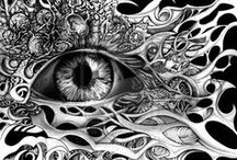 Art-Pen and ink / by Clare Smith