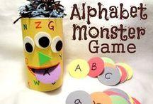 Alphabet Activities / Free printables and countless hands-on, creative alphabet activities for preschool and kindergarten / by The Measured Mom