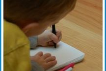Teaching writing / Quality writing resources to help children of all ages (prek+) love writing and do it well -- includes ways to help you put aside the writing prompts and help children find their own topics.   / by The Measured Mom