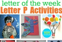 Letter P / Crafts, books, math and more for letter P - collected by a former teacher and mom of four little ones / by The Measured Mom