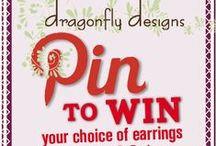 Dragonfly Pin a Jewel & Win / Here's an example from us on how you can win away a special pair of Swarovski crystal & pearl earrings! Happy Pinning! @Jewelrybydfly #DflyPintoWin  / by Dragonfly Designs