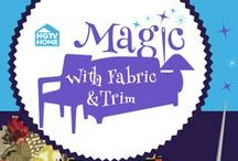 HGTV HOME Fabric & Trim Projects - Blogger Challenge / HGTV HOME fabric and trim - bring the magic to your home. / by HGTV HOME